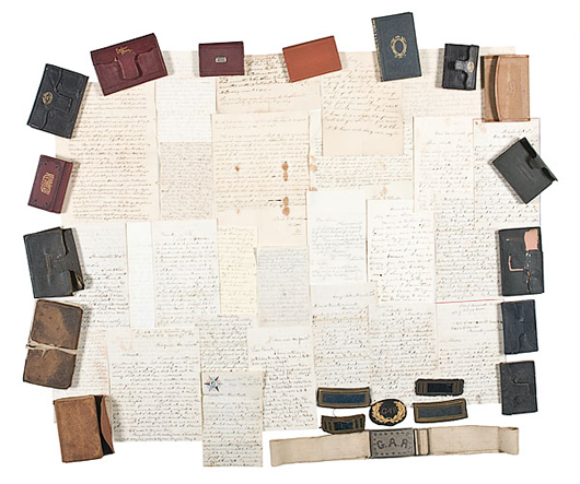 Civil War Archive of Capt. Henry T. Dudley, 15th and 20th Massachusetts Infantry, estimated to sell for $20/25,000