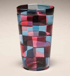 Venini Stockholm Pezzati vase, circa 1950, estimate $4,000-$6,000. Dan Ripley image.