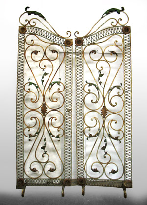 Pair of circa-1920 wrought-iron gates, est. $600-$1,000. Images courtesy of Stephenson's Auctioneers & Appraisers.