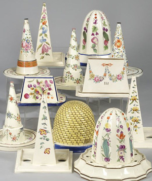A selection of British ceramic food molds to be offered in Skinner's Jan. 9, 2010 sale. Image courtesy Skinner Inc.