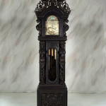 The best R.J. Horner clock money could buy was this nine tube oak grandfather clock no. 10. Standing 10 feet high, this clock has its original finish and a $65,000-$85,000 estimate. Image courtesy of North Georgia Auction Gallery.