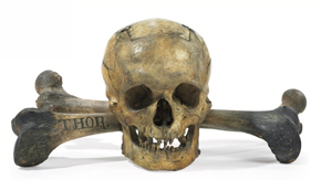 19th-century Skull-and-Bones ballot box, American, to be auctioned on Jan. 22 with a $10,000-$20,000 estimate. Photo courtesy Christie's Images Ltd. 2010.