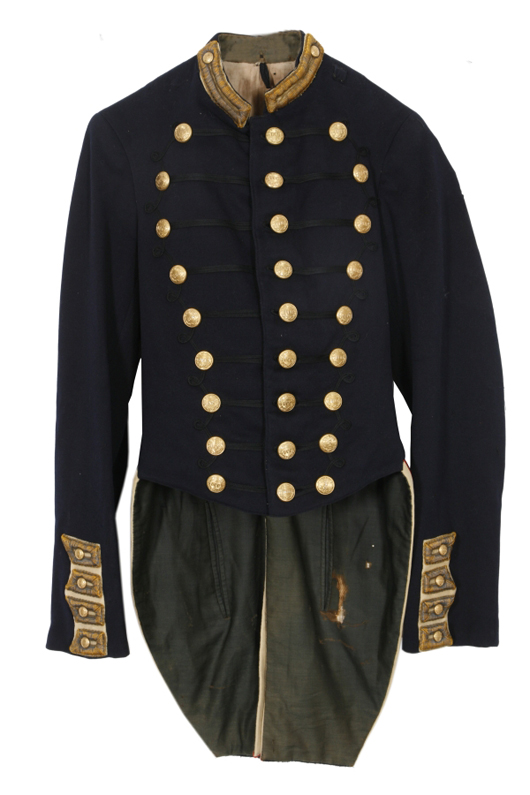 Dark blue 14th New York Utica Citizens Corp officer's coat from the Civil War (est. $2,000-$4,000).  Image courtesy Fontaine's Auction Gallery.