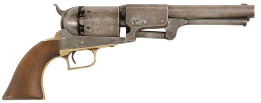 Colt first model Dragoon revolver, .44 caliber, with 7 ½-inch barrel (est. $12,000-$16,000).  Image courtesy Fontaine's Auction Gallery.