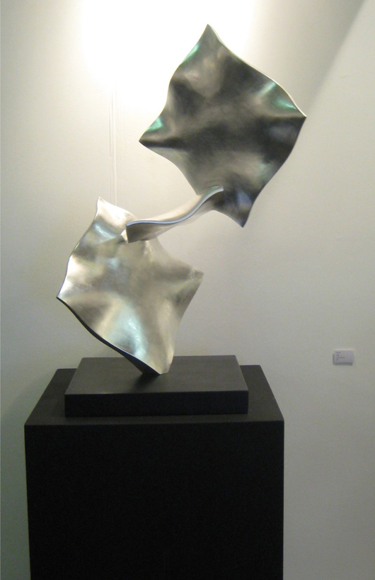 Work by sought-after contemporary sculptor Simon Allen was on the stand of Millennium Gallery at the London Art Fair this week. Photo ACN.
