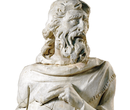 talian sculpture Giovanni Pisano depicted the prophet Haggai in Carrara marble circa 1285-1297. It is on view in the Victoria and Albert Museum's new Mediaeval and Renaissance galleries. Image courtesy V&A Images.