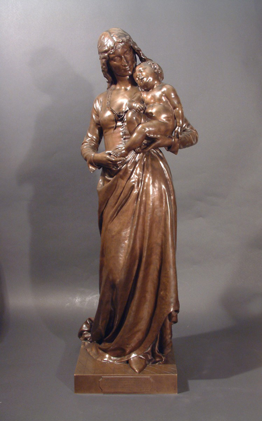 'Clothilde de Surville,' a sculpture by Jean Gautherin, circa 1875, priced at £27,975 ($45,500), from Garret & Hurst Sculpture at the Tortworth Court Antiques and Fine Art Fair in South Gloucestershire on Feb. 26-28. Photo Antiques Dealers Fair Ltd.