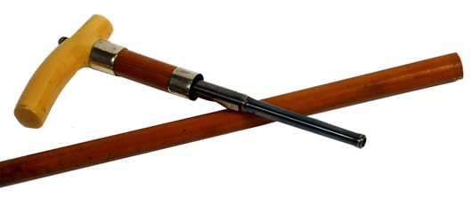 Dumontier gun cane, estimate $1,500-$2,500.  Image courtesy Kimball M. Sterling.