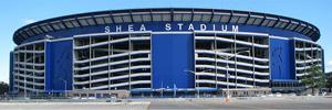 Shea Stadium, licensed image courtesy Wikimedia Commons.