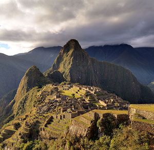 Machu Picchu, a UNESCO World Heritage Site near Cuzco, Peru, as seen at twilight. Photo by Martin St.-Amant. This file is licensed under the Creative Commons Attribution-Share Alike 3.0 Unported license.