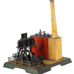 Marklin No. 4135 twin upright steam or marine engine, $46,000. Image courtesy Dan Morphy Auctions.
