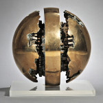 'Rotante primo sezionale n. 1' (Rotating First Section No. 1), one of two artist proofs of this sculpture by Arnaldo Pomodoro, attained $468,000. Image courtesy of Skinner Inc.