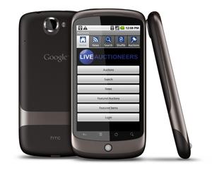 LiveAuctioneers releases live-bidding app for Google Android platform