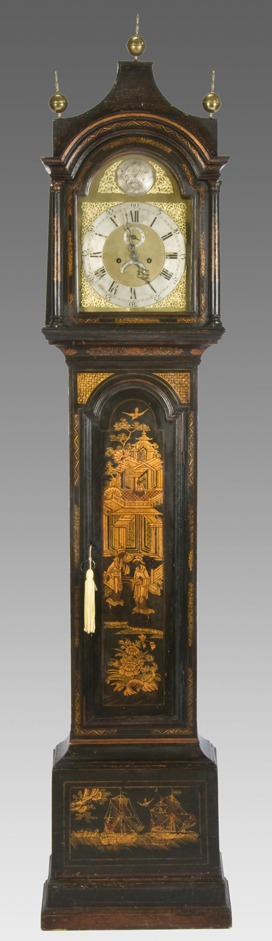 Dallas Auction Gallery Sold This 18th Century English Chinoiserie Long Case  Clock For $5,000 In