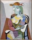 Portrait of Marie-Thérèse, 1937 Oil on canvas,100 x 81 cm Pablo Picasso, Spanish, worked in France, 1881-1973 Musée National Picasso, Paris © 2010 Estate of Pablo Picasso / Artists Rights Society (ARS), New York. Photo Credit: Jean-Gilles Berizzi / Réunion des Musées Nationaux / Art Resource, New York.