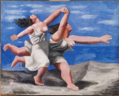 Two Women Running on the Beach (La Course), 1922 Gouache on plywood, 32.5 x 41.1 cm Pablo Picasso, Spanish, worked in France, 1881-1973 Musée National Picasso, Paris © 2010 Estate of Pablo Picasso / Artists Rights Society (ARS), New York. Photo Credit: Jean-Gilles Berizzi / Réunion des Musées Nationaux / Art Resource, New York.