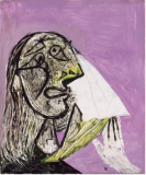 The Crying Woman, 1937 Oil on canvas, 55.3 x 46.3 cm Pablo Picasso, Spanish, worked in France, 1881-1973 Musée National Picasso, Paris © 2010 Estate of Pablo Picasso / Artists Rights Society (ARS), New York. Photo Credit: Jean-Gilles Berizzi / Réunion des Musées Nationaux / Art Resource, New York.