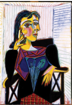 Portrait of Dora Maar, 1937 Oil on canvas, 92 x 65 cm Pablo Picasso, Spanish, worked in France, 1881-1973 Musée National Picasso, Paris © 2010 Estate of Pablo Picasso / Artists Rights Society (ARS), New York. Photo Credit: Jean-Gilles Berizzi / Réunion des Musées Nationaux / Art Resource, New York.