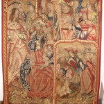 Late 15th/early 16th-century Franco-Flemish tapesty, Life of David, 90 inches high by 83 1/2 inches wide. Estimate $60,000-$90,000. Image courtesy LiveAuctioneers.com and Gray's Auctioneers.