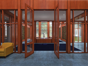 The new library is expected to open in 2012 on the grounds of George Washington's estate off the banks of the Potomac River. Image courtesy Mount Vernon Ladies' Association.