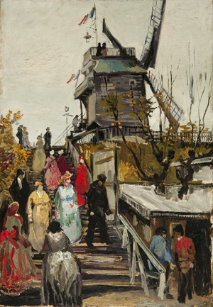 Vincent van Gogh, 'De molen Le blute-fin,' 1886, oil on canvas, 55.2 x 38 cm, Museum de Fundatie, Heino/Wijhe and Zwolle