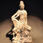 This rare 10-inch cast-iron figure of the deity Guan Yin is from the early Ming Dynasty. It has a $6,000-$8,000 estimate. Image courtesy Wichita Auction Gallery.