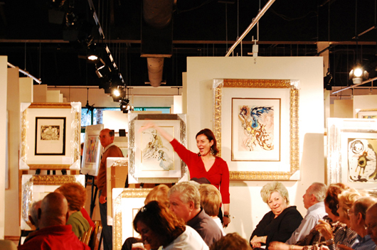 Bidders vied for works by some of the most recognizable names in 20th-century fine art. Image courtesy Baterbys.