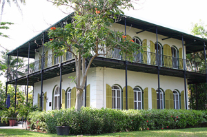 Hemingway House (Ernest Hemingway House & Museum) in Key West Florida, 2006 photo by Andreas Lamecker, courtesy Wikipedia.