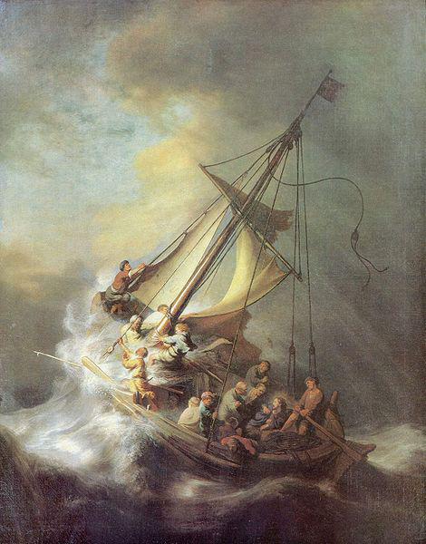 The Storm on the Sea of Galilee, 1633, Rembrandt van Rijn. Stolen from the Isabella Stewart Gardner Museum on March 18, 1990.