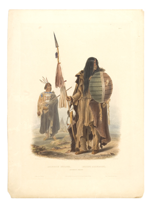 A fine example of an etching and aquatint by Karl Bodmer, published in his travels, depicts rich details. It sold for $6,750 in June 2008 at Cowan's. Image courtesy of Cowan's Auctions Inc.