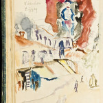 Henry Miller's 1930s Paris notebooks contained not only written content but also drawings such as this one, which was obtained directly from the Miller family. PBA Galleries has announced the private-treaty sale of the Henry Miller collection, which originally had been included in their March 18, 2010 auction. Image courtesy PBA Galleries.