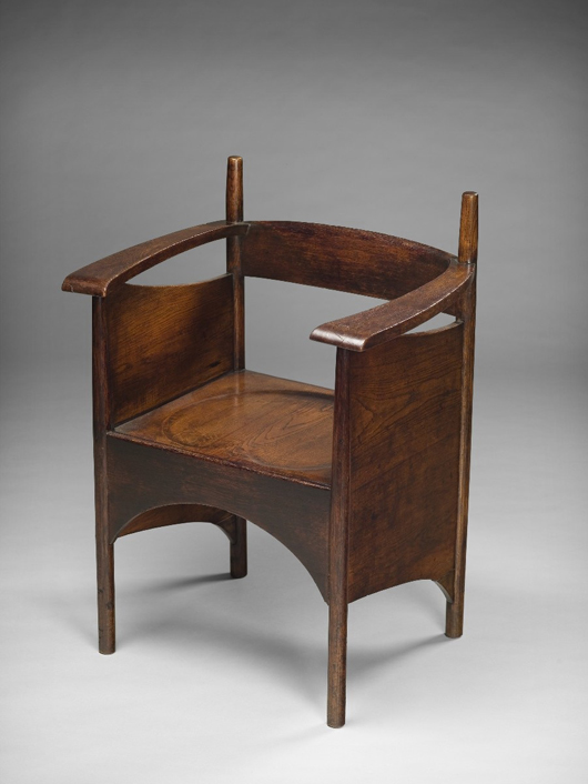 London dealers H. Blairman & Sons will be offering this oak armchair by Charles Rennie Macintosh, circa 1897, provenanced to the Argyle Tea Rooms in Glasgow when they exhibit at the inaugural Art Antiques London fair in Kensington Gardens in June. Image courtesy Houghton Fairs.