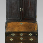 """A little more than a yard wide, Tom Gray describes this Connecticut Chippendale desk and bookcase as """"tiny."""" It was a piece his mother, Anne Gray, always wanted. Gray purchased it from Jeffrey Tillou Antiques, who obtained it from a family that owned it for 150 years. Estimate: $30,000/$50,000"""