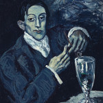 Pablo Picasso (1881-1973), Portrait of Angel Fernandez de Soto (The Absinthe Drinker), 1903. Auctioned by Christie's London on June 23, 2010 for $52 million. Proceeds will benefit The Andrew Lloyd Webber Art Foundation. Copyrighted photo courtesy Christie's Images Ltd. 2010.