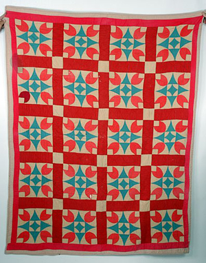 Loretta Pettway of Gees Bend, Ala., made this Christmas quilt in the 1960s. Having light staining and wear, it sold for $1,400 at a Slotin Folk Art auction in 2006. Image courtesy Slotin Folk Art and Live Auctioneers Archive.