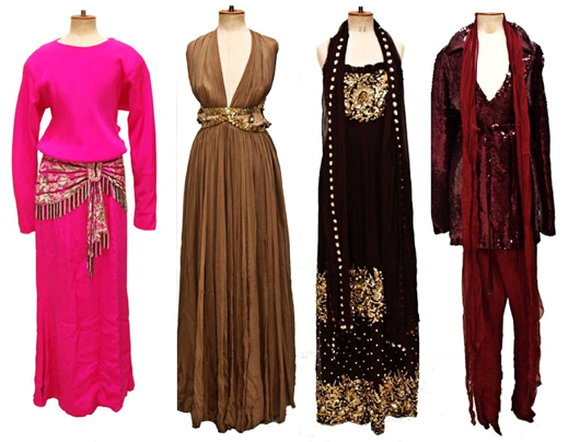 A selection of couture ensembles and evening gowns will be offered, including designs by Halston, Oscar De La Renta, Richilene and others. Image courtesy of Austin Auction Gallery.