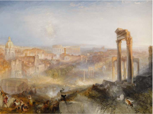 J.M.W. Turner RA, Modern Rome - Campo Vaccino, oil on canvas, 35 1/2 inches by 48 inches, estimate $13.8 million to $20.7 million. Image courtesy Sotheby's.