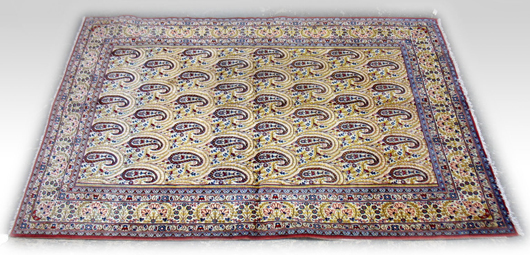 One of about 15 Persian carpets that will be sold by Stephenson's Auctioneers on April 16.