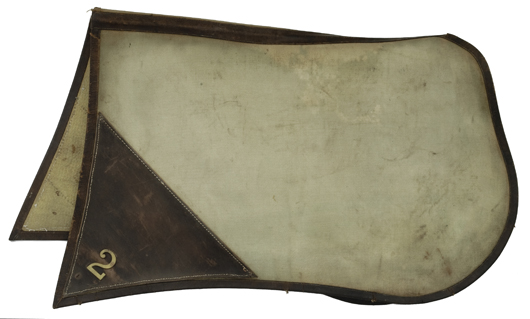 A 1908 service saddlecloth is estimated to sell for $500-$700. Image courtesy Cowan's Auctions.