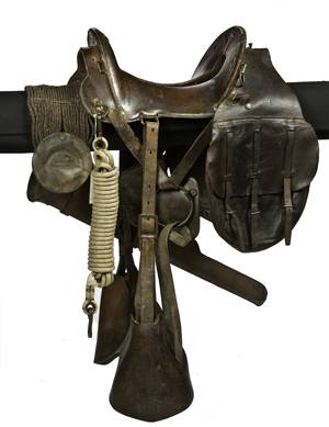 Model 1896 McClellan saddle rig, complete with the saddlebags, lariat, and carbine boot for a Krag carbine, estimated to sell for $3,000-$4,000. Image courtesy Cowan's Auctions.
