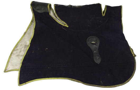 Considered rare, a Civil War officer's shabraque is estimated to bring $2,000-$3,000. Image courtesy Cowan's Auctions.