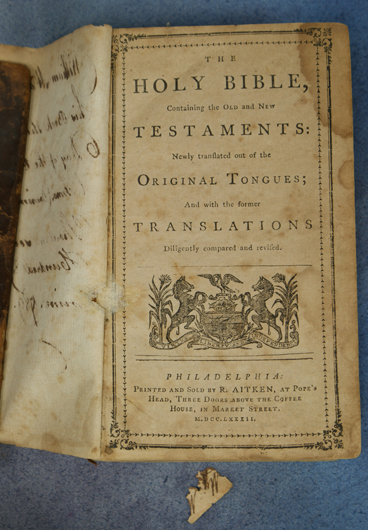 Holy Bible, title page