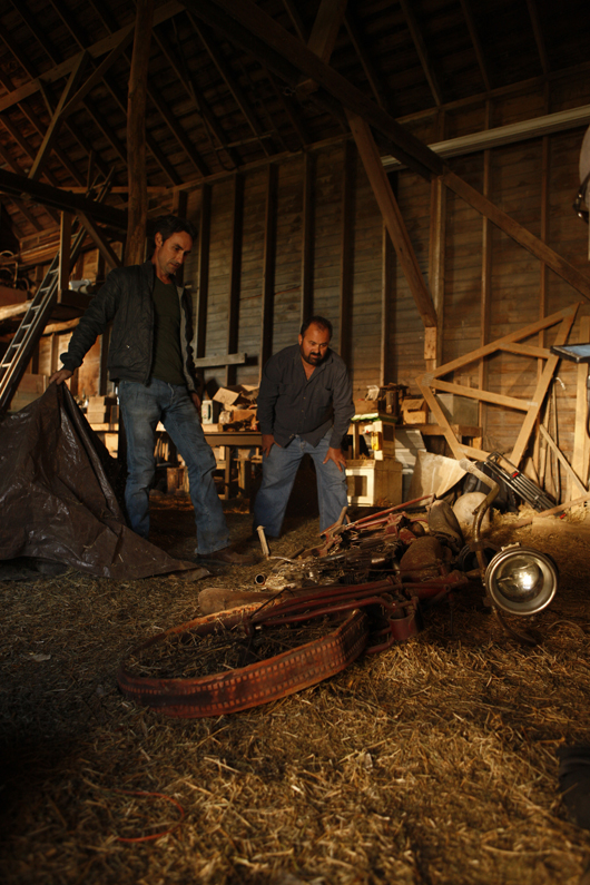 American Pickers Frank Fritz and Mike Wolfe. Image courtesy HISTORY