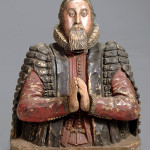 Dr. Peter Turner, a British physician and botanist, is thought to be depicted in this James I sculpted and painted alabaster bust. Created circa 1615, the 29-inch bust is expected to sell for $75,000-$105,000. Image courtesy Dreweatts.