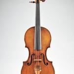 Italian violin, Giovanni Grancino, Milan, circa 1690, certificate: Etienne Vatelot, Paris, December 12, 1991, estimate: $90,000-110,000. Image courtesy of Skinner Inc.