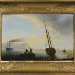 Lev Lagorio (Russian, 1827-1905), seascape, 11 3/4 by 18 inches, signed (est. $15,000-$20,000). Image courtesy of Kaminski Auctions.