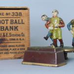 J. & E. Stevens Calamity cast-iron mechanical bank, estimate $60,000-$90,000. RSL Auction Co. image.