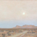 """""""Moonrise over the Mojave"""" by Maynard Dixon (Californian, 1875-1946) exemplifies his mastery of the expanse and drama of the Southwest landscape (Estimate: $150,000 to $250,000)."""