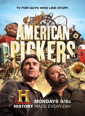 American Pickers Mike Wolfe (left) and Frank Fritz. Image courtesy HISTORY.