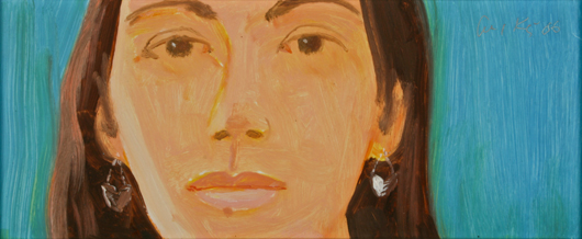 Alex Katz, Study for Corinne. Image courtesy Fuller's Fine Art Auctions.